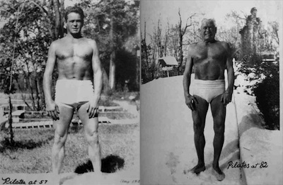 Photograph of Joseph Pilates at 57 & 82