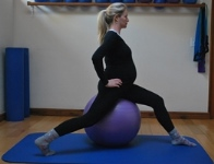 Pilates hip flexor stretch for pregnancy