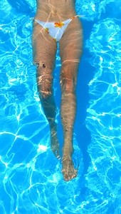 Bikini Legs Floating Vertically