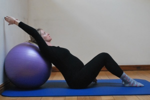chest and rib cage stretch suitable for pregnancy