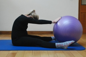 Pilates spine stretch for pregnancy