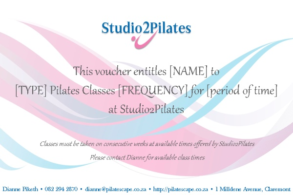 Studio2Pilates Gift Voucher