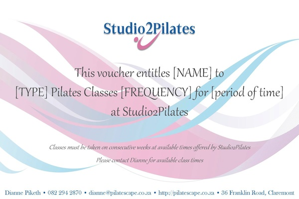 Pilates Gift Vouchers - The Perfect Gift for That Special Lady!