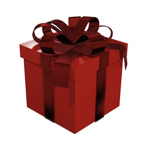 Gift box red with bow