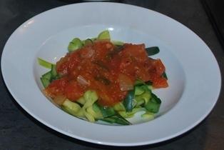 Zucchini pasta substitute
