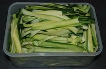Zucchini peels