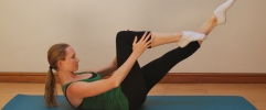 Pilates exercises for horse riders - single leg extension