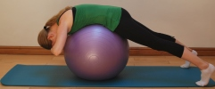 Pilates exercises for horse riders - back extension prep