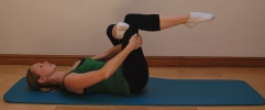 Pilates stretches for horse riders - Glute stretch