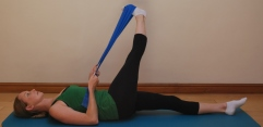 Pilates stretches for horse riders - IT Band stretch