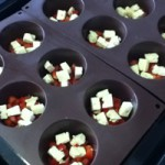 Low carb recipe - egg muffin fillings in muffin pan