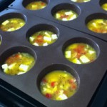 Low carb recipe - egg muffins before going into the oven