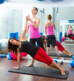 Private Pilates class