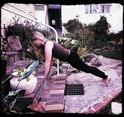 Romy doing The Plank
